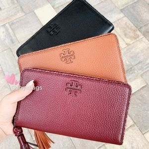 Tory Burch large continental zip around wallet